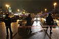 2015 год. Оцепление на месте убийства Бориса Немцова на Большом Москворецком мосту.