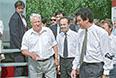 1994 год. Президент России Борис Ельцин и глава администрации Нижегородской области Борис Немцов (слева направо) во время встречи.