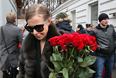 Телеведущая Ксения Собчак перед церемонией прощания