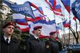 Во время митинга у здания Госсовета Республики Крым в Симферополе