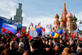 Участники митинга на Васильевском спуске