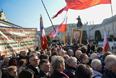 Акция памяти перед президентским дворцом в Варшаве