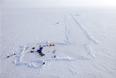 """Вид на российскую дрейфующую станцию """"Северный полюс-2015"""" из вертолета"""
