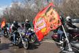 Мотоциклисты во время старта пробега в Москве, 25 апреля