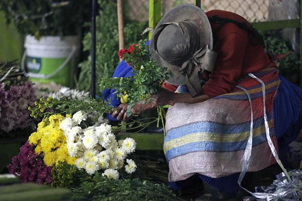 Цветочный рынок в Лиме