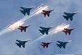 Во время парада авиации на Красной площади