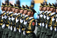 Военнослужащие Народно-освободительной армии Китая во время военного парада на Красной площади