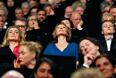 Актриса Катрин Денев, режиссер Эмманюэль Берко и актер Род Парадо (слева направо) во время церемонии открытия