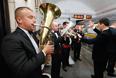Торжественный запуск юбилейного парада под звуки живого оркестра