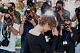 """Актриса Луиз Бургуан во время фотоколла к фильму """"Я — солдат"""""""