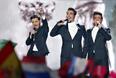 Третье место. Представители Италии участники группы Il Volo