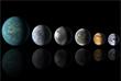 """До этого титул планеты, больше всего похожей на Землю, принадлежал планете Kepler 186f, размеры которой всего на 10% больше нашей. Еще раньше были открыты экзопланеты Kepler 62f и Kepler 69c. Первой экзопланетой, обнаруженной в """"зоне жизни"""" в рамках миссии телескопа """"Кеплер"""" была Kepler 22b, которая в 2,4 раза больше Земли. (На иллюстрации сравнительные размеры Земли (справа) и экзопланет (слева направо): Kepler 22b, Kepler 69c,  Kepler 452b, Kepler 62f и Kepler 186f)."""