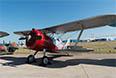 По традиции место на салоне предоставлено и ветеранам в авиации. Это ДИТ - двухместный тренировочный истребитель. Выпущено всего три штуки.