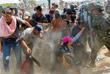 Нелегальные мигранты прорывают полицейский кордон на границе между Македонией и Грецией