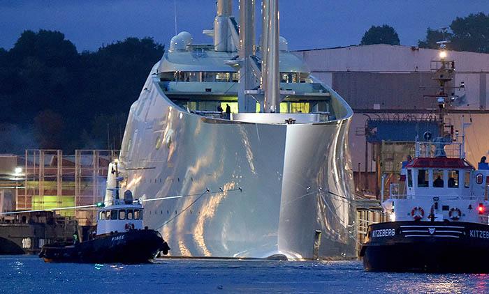 Судно, построенное на немецких верфях Nobiskrug, ориентировочно оценивается в 404 млн долларов