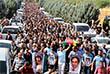 Несколько тысяч сторонников прокурдской оппозиции провели в воскресенье демонстрацию в Анкаре в память о погибших в результате совершенного в турецкой столице днем ранее теракта