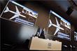 """Руководитель пресс-службы концерна Валерий Ярмоленко и генеральный директор концерна """"Алмаз-Антей"""" Ян Новиков (слева направо) на пресс-конференции"""
