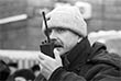 """1997 год. Съемки кинофильма """"Сибирский цирюльник"""". Режиссер фильма Никита Михалков на съемочной площадке."""