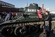 Легендарный советский танк Т-34. После марша техника осталась на Красной площади до 17:00 субботы, ее может увидеть любой желающий.