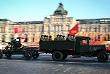Проезд военной техники времен Великой Отечественной войны на марше, посвященном 74-й годовщине военного парада 7 ноября 1941 года