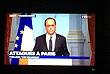 Кадр обращения президента Франсуа Олланда к нации. Французский лидер объявил в стране чрезвычайное положение и закрыл границы. Он также отменил свою поездку на саммит G20.