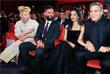 """Тильда Суинтон со спутником Сандро Коппом,  Амаль Аламуддин и Джордж Клуни перед премьерой фильма """"Да здравствует Цезарь!"""""""