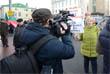 По маршруту шествия дежурили сотрудники полиции, машины коммунальных служб. Было перекрыто движение по улице Петровка.