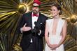 """Комедийный актер Саша Барон Коэн и актриса Оливия Уайлд  на сцене театра """"Долби"""""""