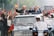 Генеральный секретарь ЦК КПСС Михаил Горбачев (слева) и Президент Румынии Николае Чаушеску в Бухаресте в мае 1987 года
