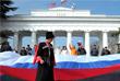 Шествие в честь годовщины воссоединения Крыма с Россией в Севастополе