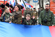 Праздничное шествие в Севастополе