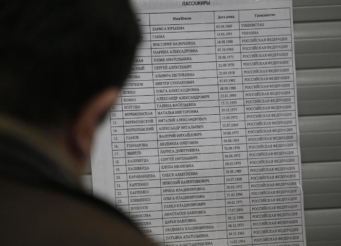 Список погибших пассажиров рейса авиакомпании Flydubai