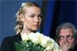 Балерина Анастасия Волочкова и актер Александр Галибин на церемонии прощания с артистом