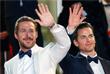 """Голливудские актеры Райан Гослин и Мэтт Бомер перед показом фильма """"Славные парни"""""""