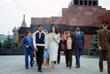 Мохаммед Али и его третья жена Вероника после посещения Мавзолея Ленина в Москве