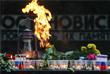 Цветы и свечи в память о погибших во время Великой Отечественной войны в Пятигорске