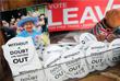 Значки с призывом жителей Великобритании голосовать за выход страны из Евросоюза