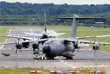 Четырехмоторный турбовинтовой военно-транспортный самолет Airbus A400M