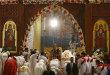 Коптский Патриарх Александрийский Феодор II проводит божественную литургию в храме Каира. Праздничное богослужение посетил президент Египта Абдель Фатах аль-Сиси