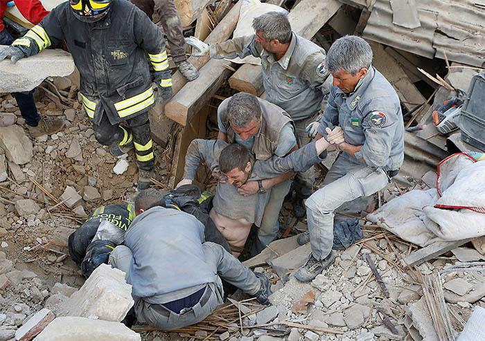 Землетрясение магнитудой 6,2 произошло в центральной части Италии