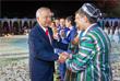Президент Узбекистана поздравляет жителей Ташкента с Днем независимости страны. 2012 год.