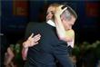 """Актеры Джереми Реннер и Эми Адамс перед показом фильма """"Прибытие"""""""