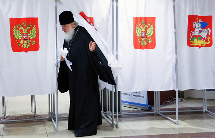 Патриарх Московский и всея Руси Кирилл в единый день голосования в Москве