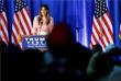 Мелания Трамп выступает перед сторонниками кандидата в президенты США Дональда Трампа в Пенсильвании. Ноябрь 2016 год.
