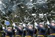 Траурная церемония погребения с отданием воинских почестей на Химкинском кладбище