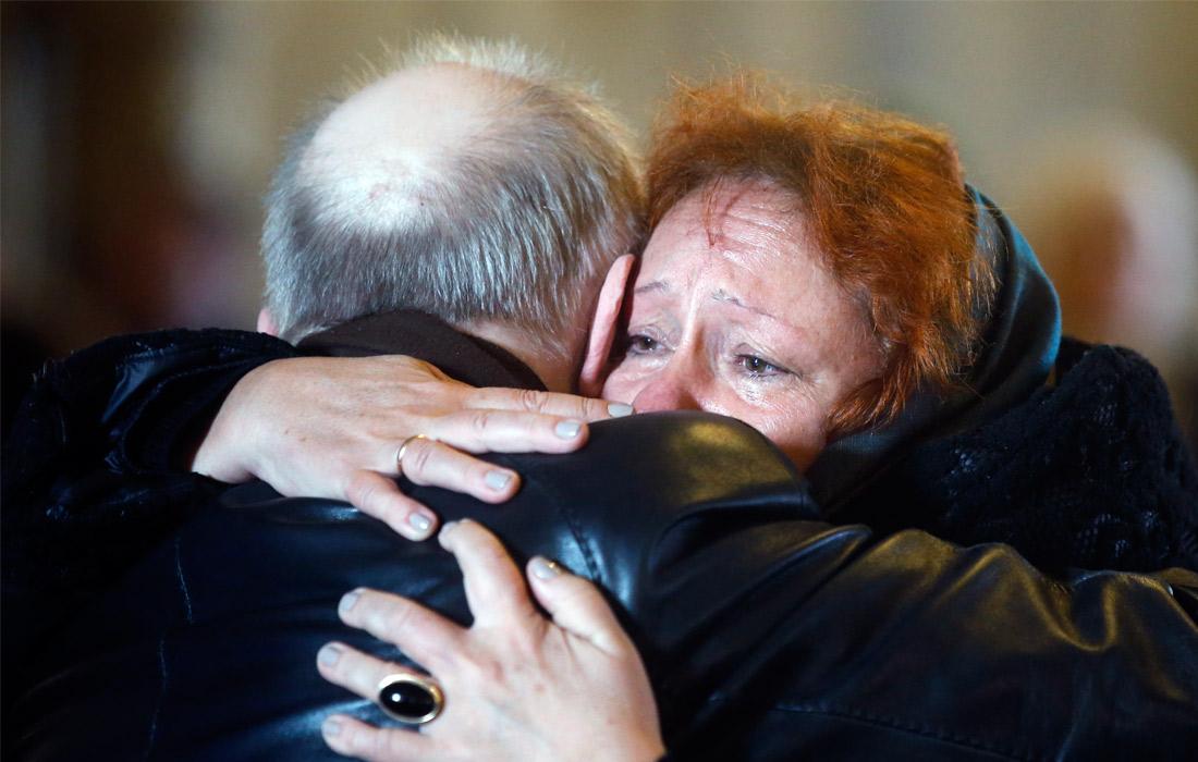 Во время траурной церемонии прощания с Елизаветой Глинкой