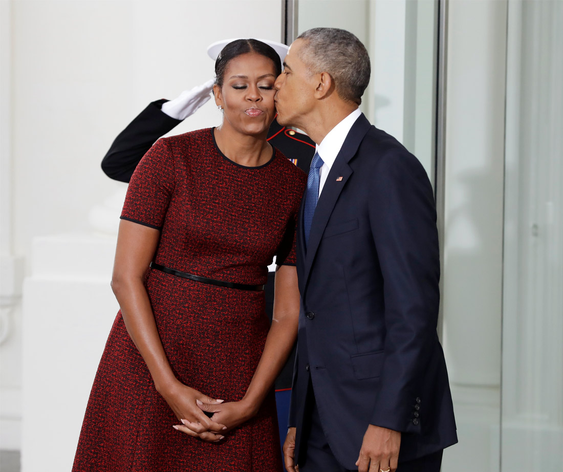Barack obama and wife pictures