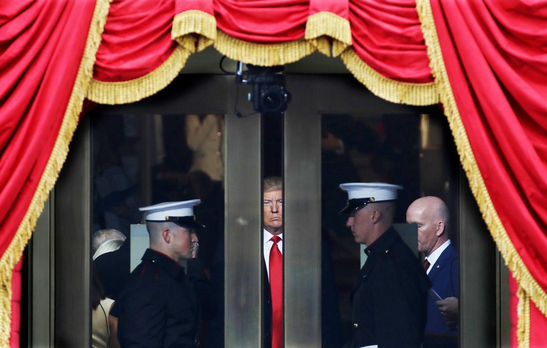 Избранный президент США Дональд Трамп перед церемонией инаугурации