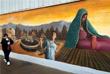 Стена между американским городом Эль-Пасо и мексиканским Сьюдад-Хуарес