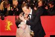 """Съемочная группа фильма """"Джанго"""" актер Реда Катеб и актриса Бим Бам Мерстейн перед премьерой картины"""